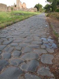Via Appia Antica, basolato